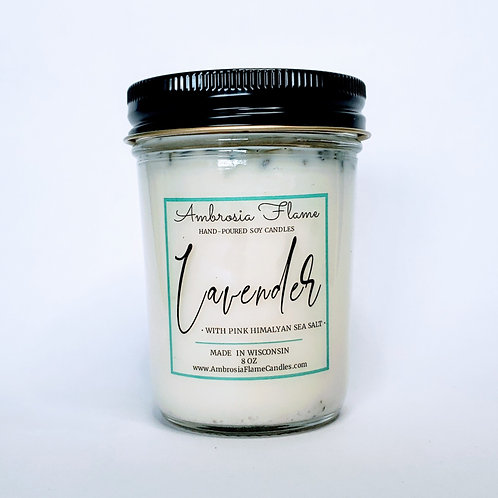 Lavender Scented Natural Soy Candle 8 oz