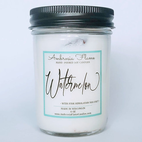 Watermelon Natural Scented Soy Candle 8 oz