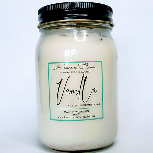 Vanilla Natural Scented Soy Candle 16 oz