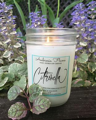 Citronella Candle Flame