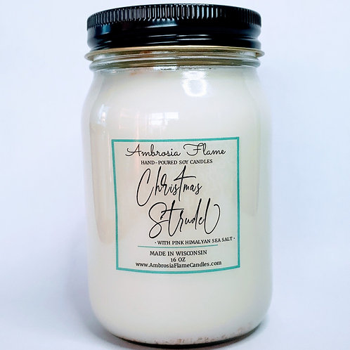 Christmas Strudel Natural Scented Soy Candle 16 oz