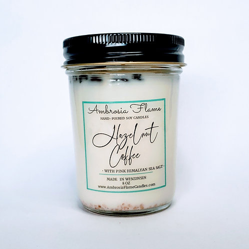 Hazelnut Coffee Natural Scented Soy Candle 8 oz