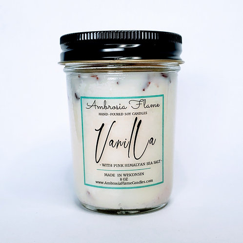 Vanilla Natural Scented Soy Candle 8 oz