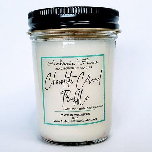 Chocolate Caramel Truffle Candle - 8 oz