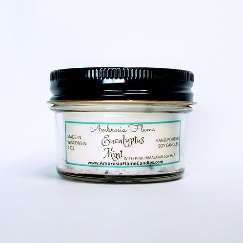 Eucalyptus Mint Natural Scented Soy Candle 4 oz