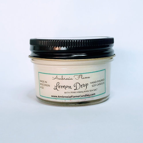 Lemon Drop Natural Scented Soy Candle 4 oz