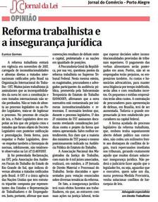 Artigo Publicado no Jornal Correio do Povo - Reforma Trabalhista