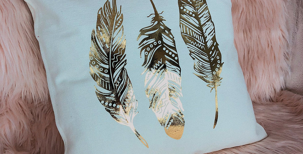 Golden Feather Cushion