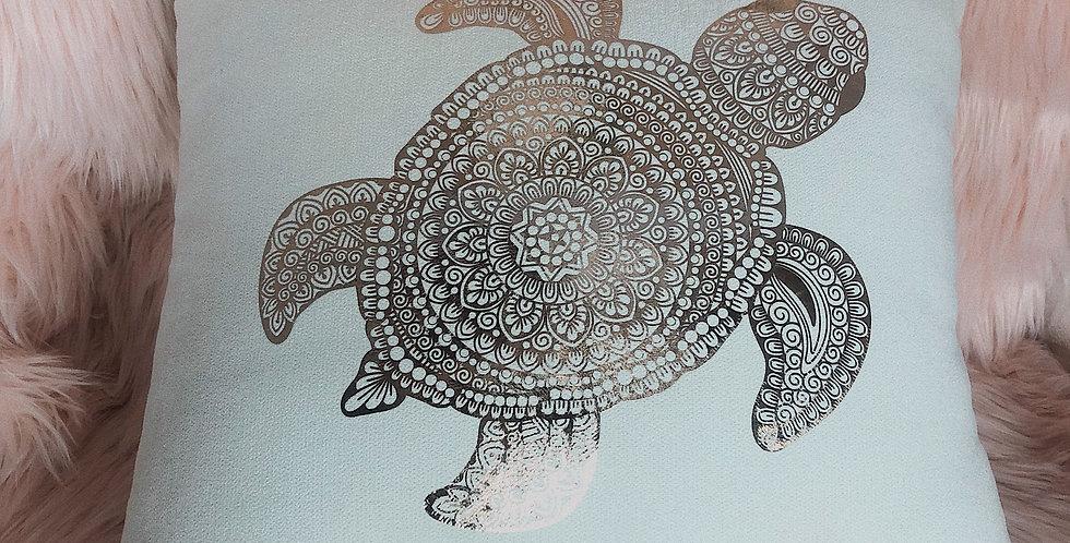 Turtle Mosaic Cushion