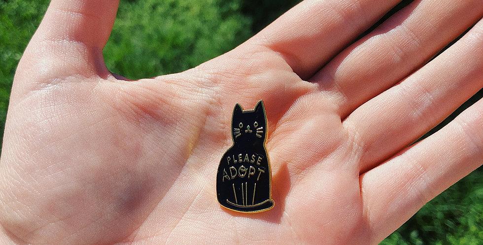 Adopt Cats Pin