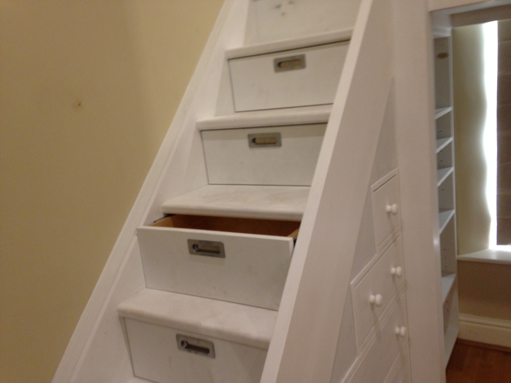 Close up of Bunk Bed Stairs