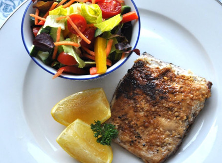 Pan Fried Yellowtail with Crunchy Summer Salad