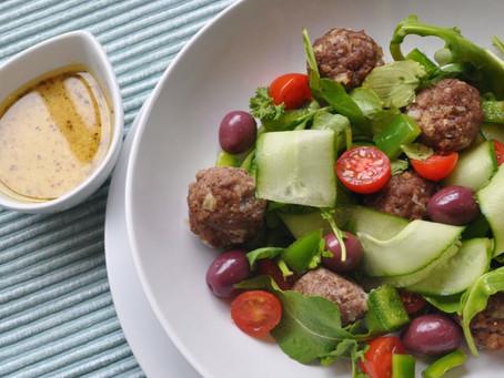 Moroccan Meatballs & Salad