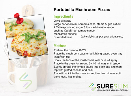 Portobello Mushrooms Pizzas