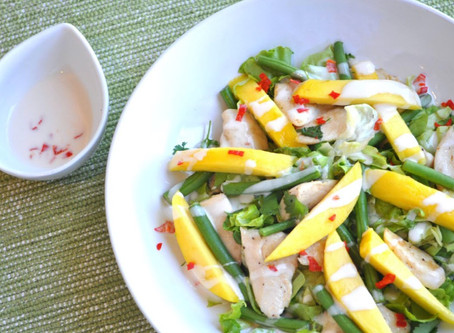 Warm Chicken & Mango Salad