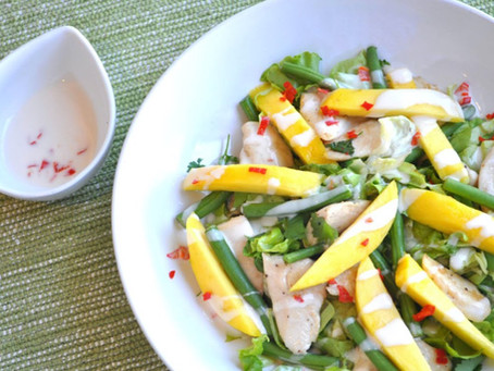 Warm Chicken & Mango Salad