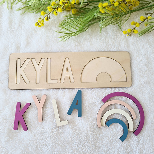 Rainbow Wooden Name Puzzle - Personalised