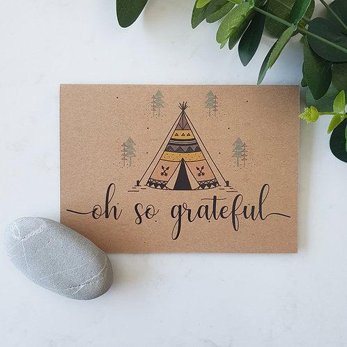 Oh So Grateful - Greeting Card
