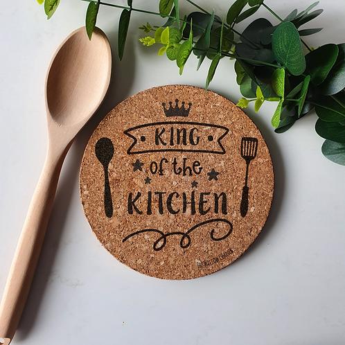 King of the Kitchen - Cork Trivet Coaster