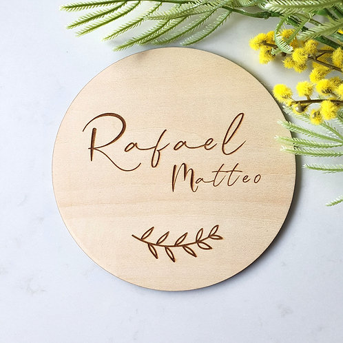 Custom Wooden Name Plaque