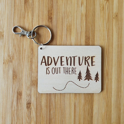 Adventure is Out There Rectangle Bag Tag - Name
