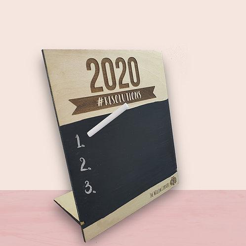 2020 #RESOLUTIONS Board