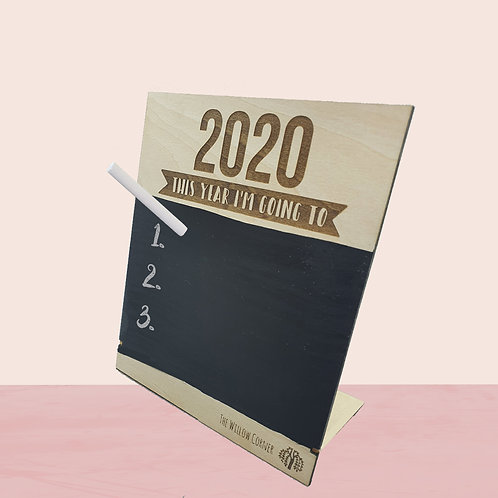 2020 This Year I'm Going To: Board