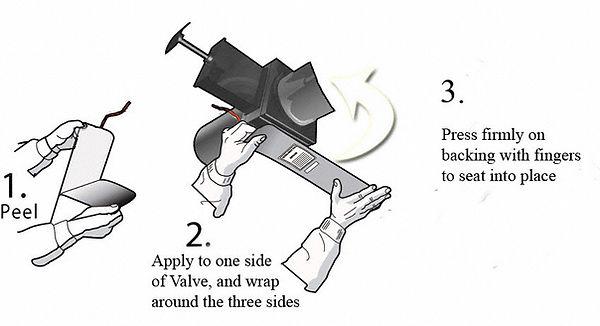 Easy to install UltraHeat RV gate valve heaters