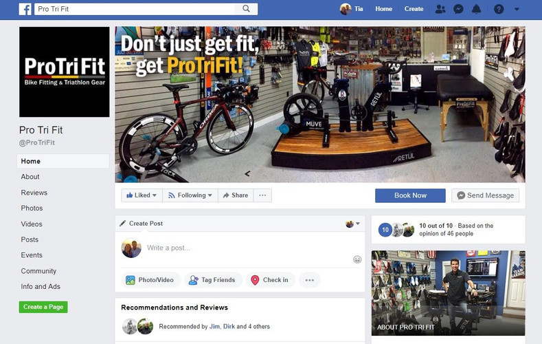 ProTriFit Facebook Page