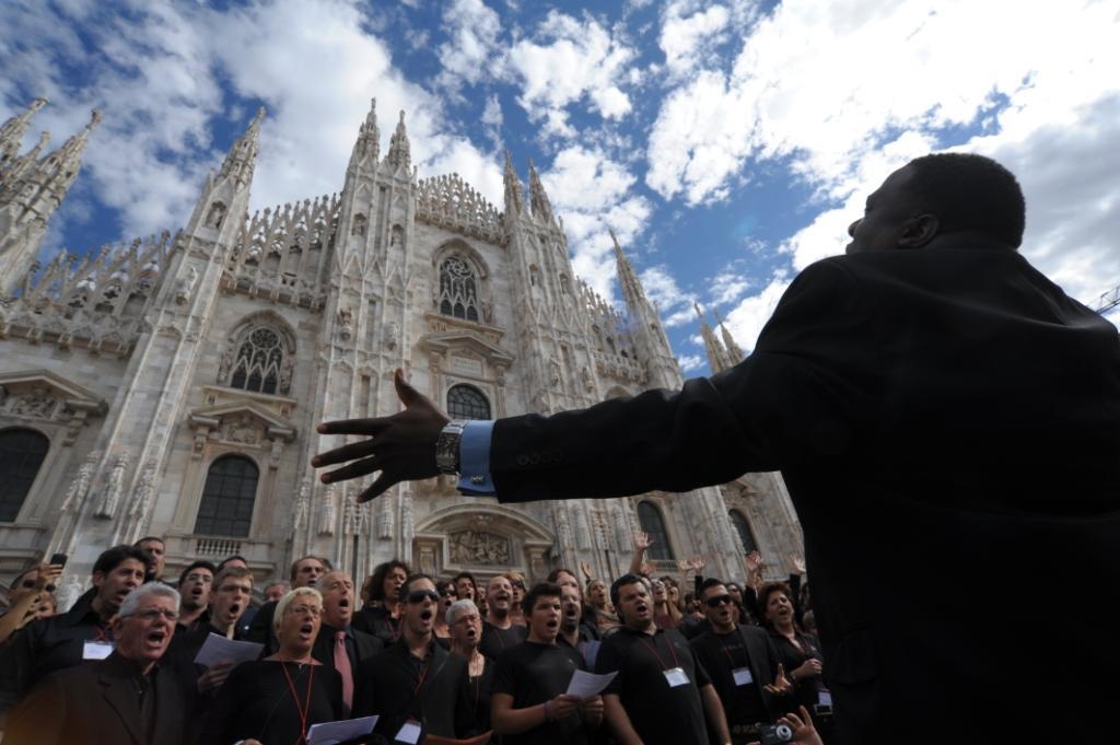 Gospel Connection 2010 - Duomo di Milano, esterno