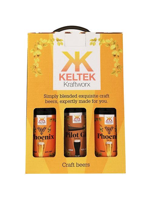 Gift Box 3 x 330ml Bottles of Kraftworx Ale