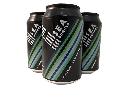 Sea Bunker Cornish Lager 12 x 330ml cans