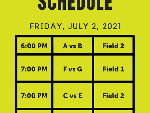 2021 AASA Cup Schedule