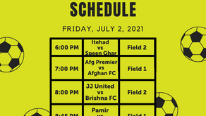 2021 AASA Cup Schedule with Teams