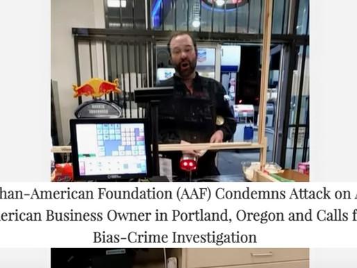 AAF CondemnsAttack on Afghan American Business Owner in Portland, Calls for Bias-Crime Investigation