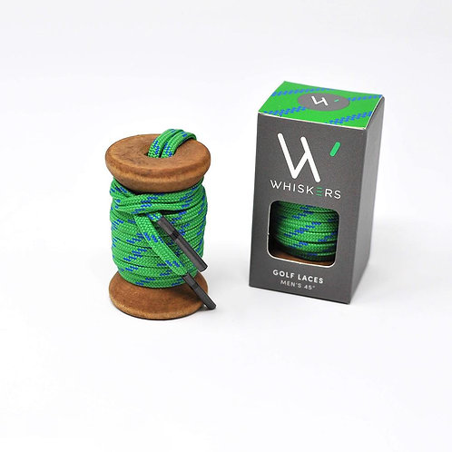 Whiskers Shoe Laces Green & Blue Athletic Flat