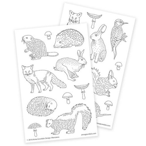 Color Your Own Stickers | Forest Animals
