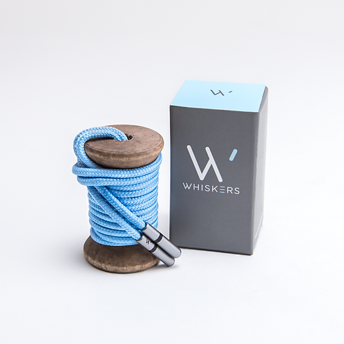 Whiskers Shoe Laces Solid Light Blue
