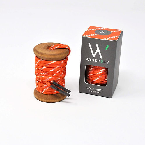 Whiskers Shoe Laces Orange & White Athletic Flat