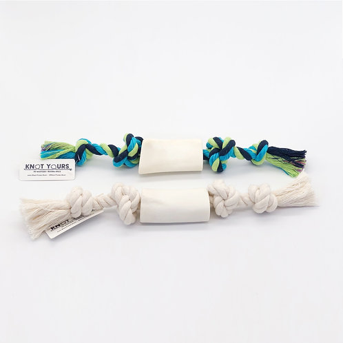 Rope in Bone Chew Toy-Small