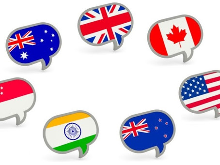 Разные акценты английского языка
