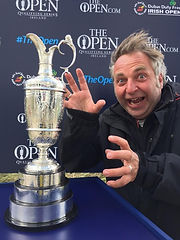 Claret Jug and Me, very windy_