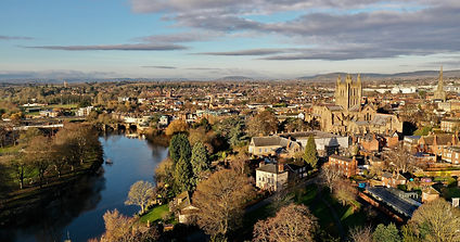 Aerial Shot of Hereford