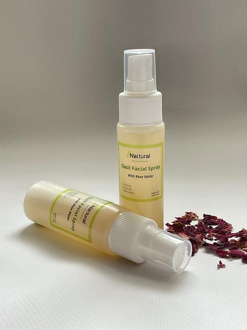 Qasil Facial Spray with Rose-water