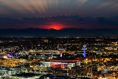 Pepsi Center Sunset