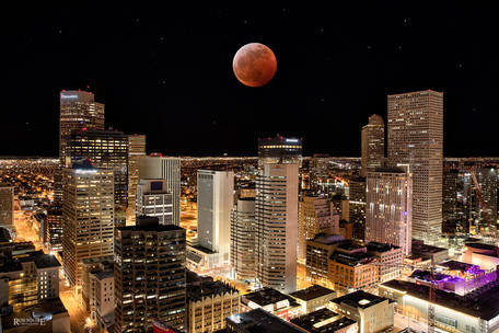 Red Moon Over Denver