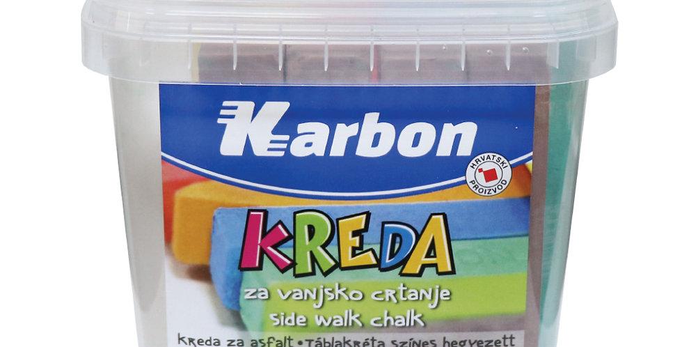 Kreda za vanjsko crtanje u boji kantica 1/24 Karbon