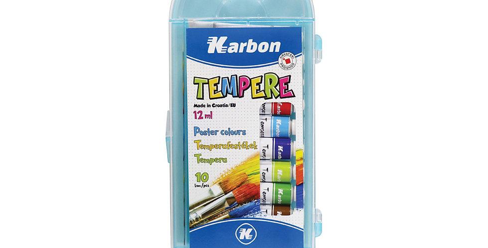 Tempera alu tuba plastična kutija 1/10 12 ml Karbon