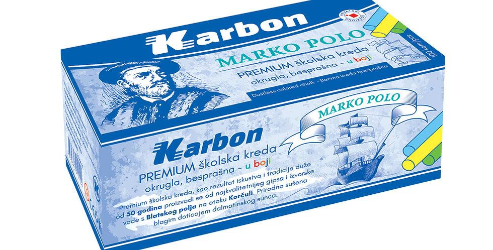 Kreda školska Marko Polo okrugla besprašna u boji 1/100 Karbon