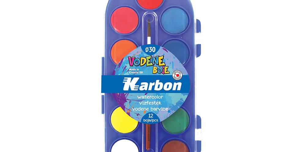 Boje vodene 1/12 fi30 s kistom Karbon - plava kutija